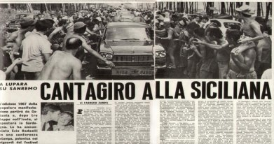 1967 - June- CANTAGIRO ( Music on the Road ) Fans crowd around Rita's car